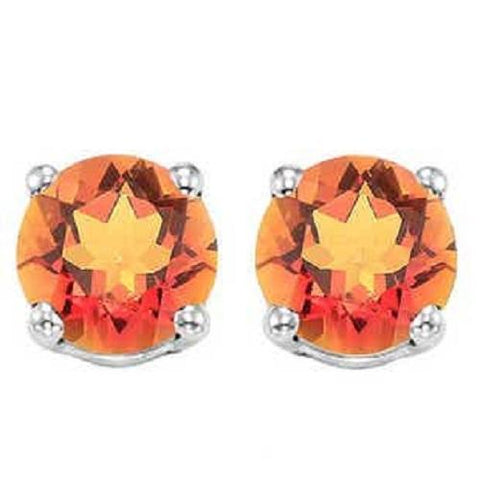 925 Sterling Silver 0.89CT Round 5MM Azotic Gemstone Stud Earrings wholesalekings wholesale silver jewelry