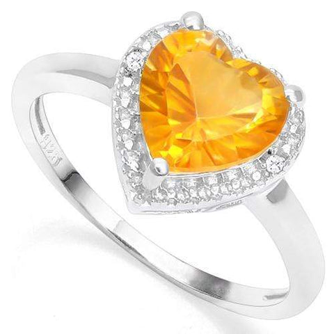 925 STERLING SILVER 1.73 CT DARK CITRINE & DIAMOND COCKTAIL RING wholesalekings wholesale silver jewelry