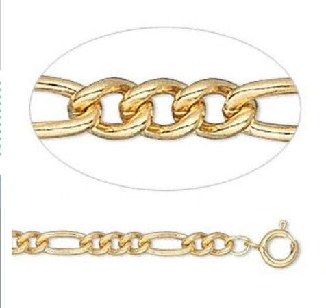 925 STERLING SILVER FLAT FIGARO CHAIN- 20 INCHES wholesalekings wholesale silver jewelry