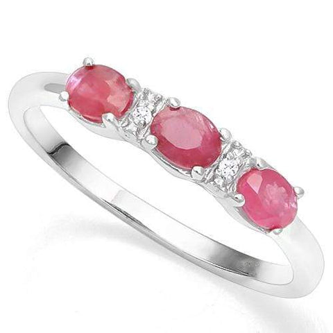 925 STERLING SILVER OV 3*4 MM RUBY WOMEN RING wholesalekings wholesale silver jewelry