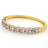 14K Gold-Plated Crystal Bangles Bracelet