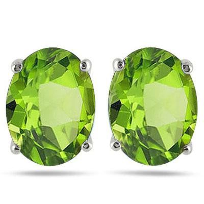 ASTONISHING 1.64 CARAT TW (2 PCS) PERIDOT PLATINUM OVER 0.925 STERLING SILVER EARRINGS