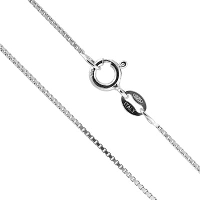 PURE 925 ITALY STERLING SILVER BOX CHAIN - 18 INCH