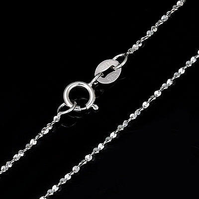 PLATINUM OVER 0.925 STERLING SILVER TWIST NECKLACE CHAIN-20 INCHES