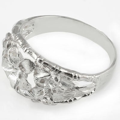 PRICELESS PLUMERIA RING WITH 0.925 STERLING SILVER RING