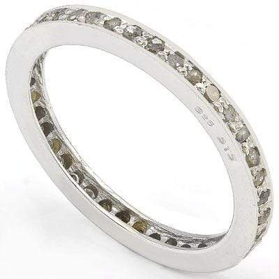 ALLURING 0.50 CT GENUINE DIAMOND 14K WHITE GOLD PLATED OVER 925 SILVER VICTORIAN RING - Wholesalekings.com