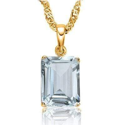 ALLURING 0.55 CARAT TW (1 PC) AQUAMARINE 10K SOLID YELLOW GOLD PENDANT wholesalekings wholesale silver jewelry
