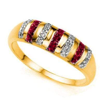 ALLURING ! 3/5 CARAT (9 PCS) RUBY & (16 PCS) DIAMOND 10KT SOLID GOLD RING wholesalekings wholesale silver jewelry
