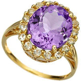 ALLURING 5.23 CARAT TW (43 PCS) AMETHYST & WHITE TOPAZ 10K SOLID YELLOW GOLD RING wholesalekings wholesale silver jewelry