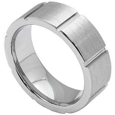 ALLURING GROOVE CARBIDE TUNGSTEN RING - Wholesalekings.com