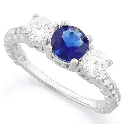AMAZING!! CREATED BLUE SAPPHIRE 925 STERLING SILVER HALO RING wholesalekings wholesale silver jewelry