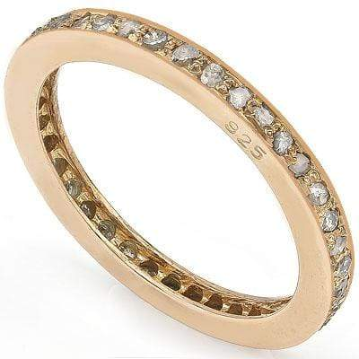 ASTONISHING 0.50 CT GENUINE DIAMOND 14K ROSE GOLD PLATED OVER 925 SILVER VICTORIAN RING - Wholesalekings.com