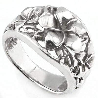 ASTONISHING PLUMERIA RING WITH 0.925 STERLING SILVER wholesalekings wholesale silver jewelry