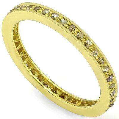 AWESOME 0.50 CT GENUINE DIAMOND 14K YELLOW GOLD PLATED OVER 925 SILVER VICTORIAN RING - Wholesalekings.com