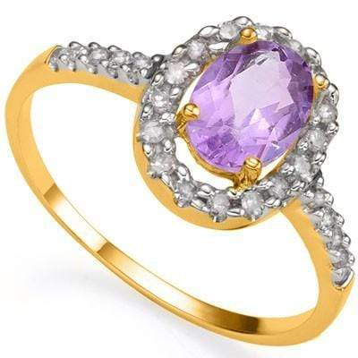 AWESOME 0.80 CT AMETHYST & 26 PCS WHITE DIAMOND 24K GOLD PLATED RING wholesalekings wholesale silver jewelry