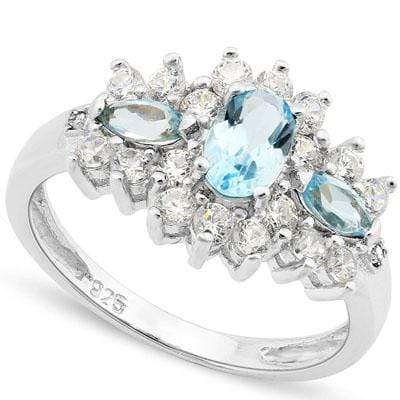 BABY SWISS BLUE TOPAZ 925 STERLING SILVER RING wholesalekings wholesale silver jewelry