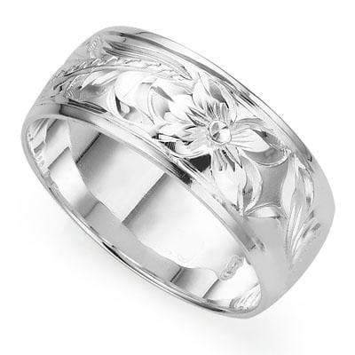 BEAUTIFUL CRAFTED TRADITIONAL HAWAIIAN RING WITH 0.925 STERLING SILVER wholesalekings wholesale silver jewelry