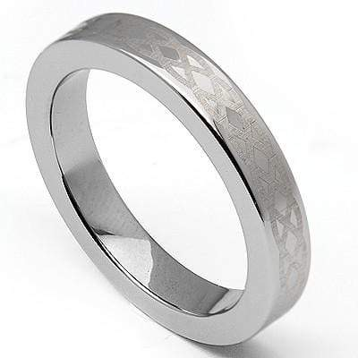 BEAUTIFUL LASER ENGRAVED TUNGSTED CARBIDE RING - Wholesalekings.com