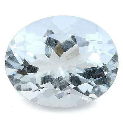 BEAUTIFUL OVAL 6X8 1.00 CT SANTA MARIA CLEAR WATER BLUE AQUAMARINE  GEMSTONE wholesalekings wholesale silver jewelry