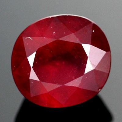 BEAUTIFUL OVAL 6X8MM 1.80 CT  CARDINAL RED AFRICA RUBY GEMSTONE - Wholesalekings.com