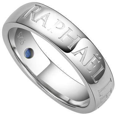 BEAUTIFUL RAPHAËL LÉON 0.08 CARAT TW (1 PCS) GENUINE SAPPHIRE PLATINUM OVER 0.925 STERLING SILVER RING - Wholesalekings.com