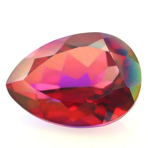 BIG NATURAL 5 CT PINK RED LOOSE GEMSTONE STRIKING RED PEAR CUT (VERY HARD TO FIND COLOR) - Wholesalekings.com