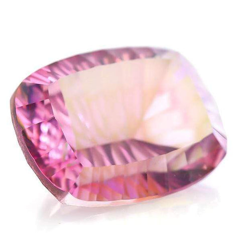 BIG NATURAL 9 CT PINK TOPAZ LOOSE GEMSTONE STRIKING PINK CUSHION CUT (VERY HARD TO FIND COLOR) - Wholesalekings.com