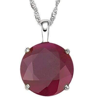 BRILLIANT 0.5 CARAT TW (1 PCS) GENUINE RUBY 10K SOLID WHITE GOLD PENDANT wholesalekings wholesale silver jewelry