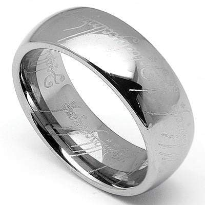 "BRILLIANT "" LORD OF THE RING "" TUNGSTEN CARBIDE RING wholesalekings wholesale silver jewelry"