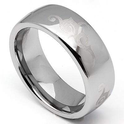 CAPTIVATING COMFORT FIT MEN TUNGSTEN CARBIDE RING wholesalekings wholesale silver jewelry