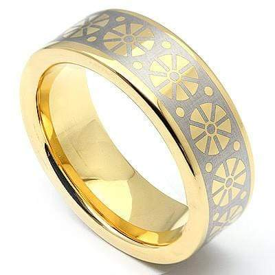 CLASSIC CELTIC DESIGN TUNGSTEN CARBIDE RING - Wholesalekings.com