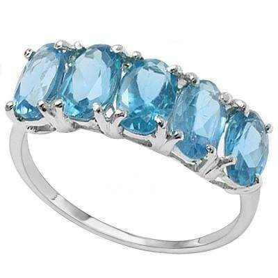 CLASSY 2.70 CT BLUE TOPAZ PLATINUM OVER 0.925 STERLING SILVER RING wholesalekings wholesale silver jewelry