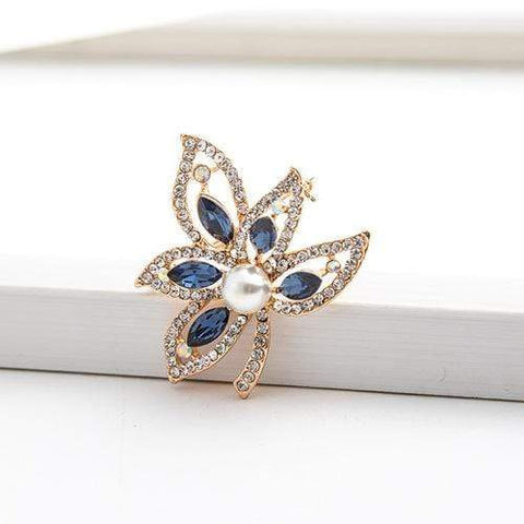 DAZZLING ! 18K GOLD PLATED GERMAN SILVER BROOCH wholesalekings wholesale silver jewelry