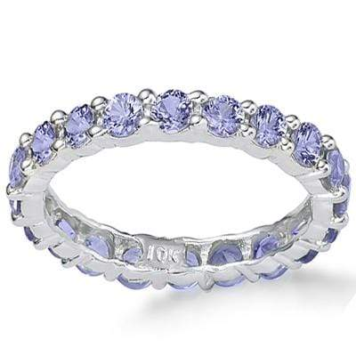 DAZZLING 2.03 CT GENUINE TANZANITE 10K SOLID WHITE GOLD RING wholesalekings wholesale silver jewelry
