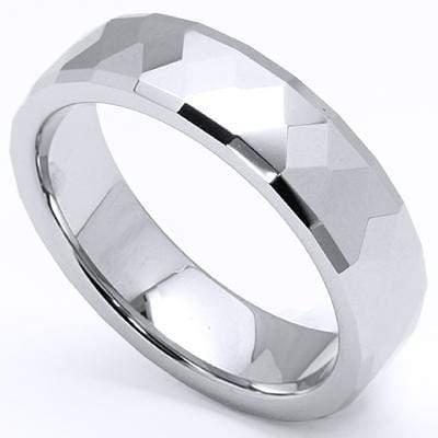 DIAMOND FACETED CARBIDE TUNGSTEN RING-6mm - Wholesalekings.com