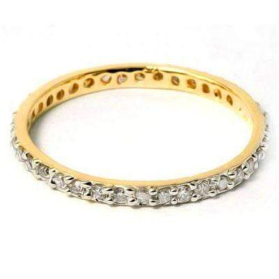 ELEGANT 0.22 CT WHITE DIAMOND 10K SOLID YELLOW GOLD RING - Wholesalekings.com