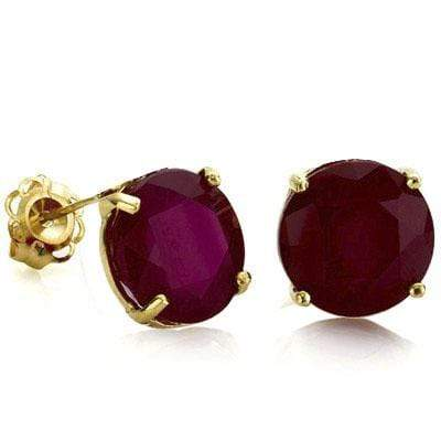ELEGANT 0.9 CARAT TW (2 PCS) GENUINE RUBY 10K SOLID YELLOW GOLD EARRINGS wholesalekings wholesale silver jewelry