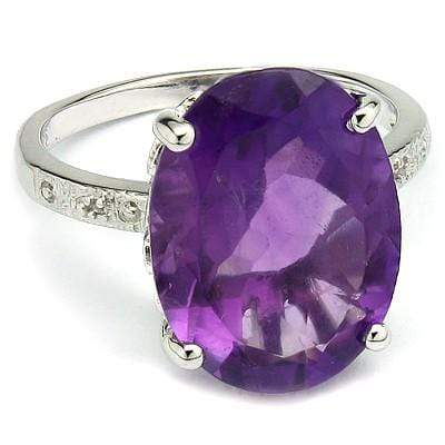 ELEGANT 6.90 CT AMETHYST 0.925 STERLING SILVER W/ PLATINUM RING wholesalekings wholesale silver jewelry