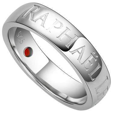 ELEGANT RAPHAËL LÉON 0.09 CARAT TW (1 PCS) GENUINE RUBY PLATINUM OVER 0.925 STERLING SILVER RING - Wholesalekings.com