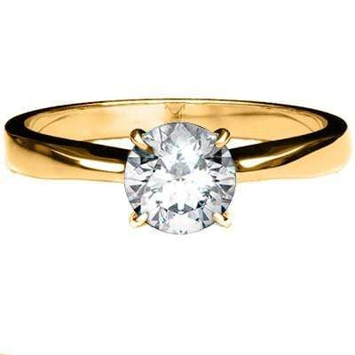 EXCELLENT 0.22 CT GENUINE DIAMOND 18K SOLID YELLOW GOLD RING - Wholesalekings.com