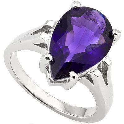 EXCELLENT 7.25 CT AMETHYST 0.925 STERLING SILVER W/ PLATINUM RING - Wholesalekings.com