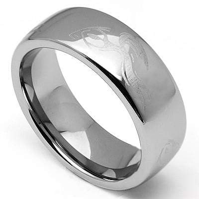 EXCELLENT LASER ENGRAVED CELTIC CARBIDE TUNGSTEN RING - Wholesalekings.com