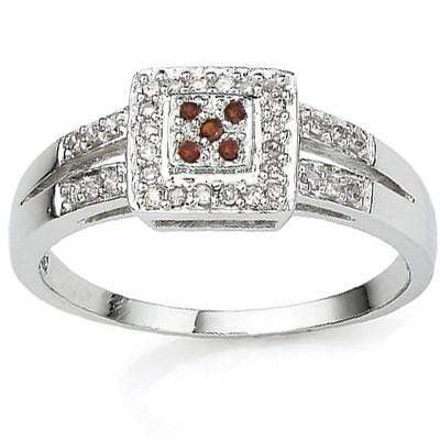 EXCLUSIVE 0.02 CT RED DIAMOND CRAFTED IN PLATINUM OVER 0.925 STERLING SILVER RING - Wholesalekings.com