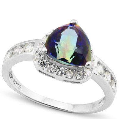 EXCLUSIVE 1.2 CARAT TW (28 PCS) OCEAN MYSTIC GEMSTONE & CUBIC ZIRCONIA PLATINUM - Wholesalekings.com