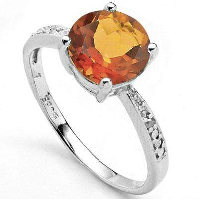 EXCLUSIVE 1.70 CT AZOTIC GEMSTONE & 2 PCS GENUINE DIAMOND PLATINUM OVER 0.925 STERLING SILVER RING - Wholesalekings.com