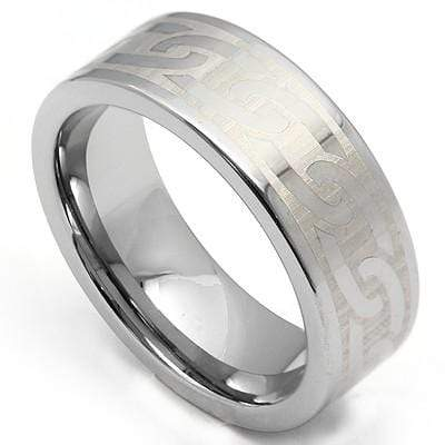 EXCLUSIVE CHAIN LINK CARBIDE TUNGSTEN RING - Wholesalekings.com