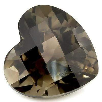 EXCLUSIVE CHECKERBOARD HEART SHAPE 14MM 10 CT SMOKY TOPAZ  GEMSTONE - Wholesalekings.com
