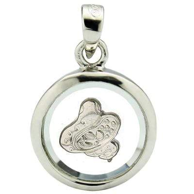 EXCLUSIVE WHITE GERMAN SILVER ROTATABLE PENDANT- CHINESE ZODIAC SNAKE - Wholesalekings.com