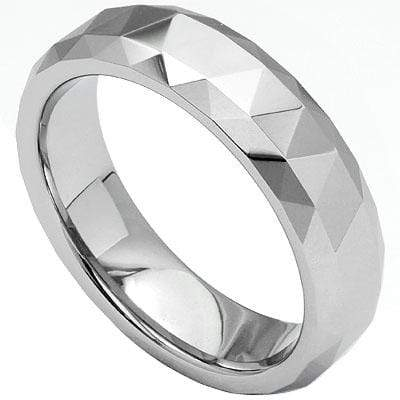 FACETED CARBIDE TUNGSTEN RING - Wholesalekings.com