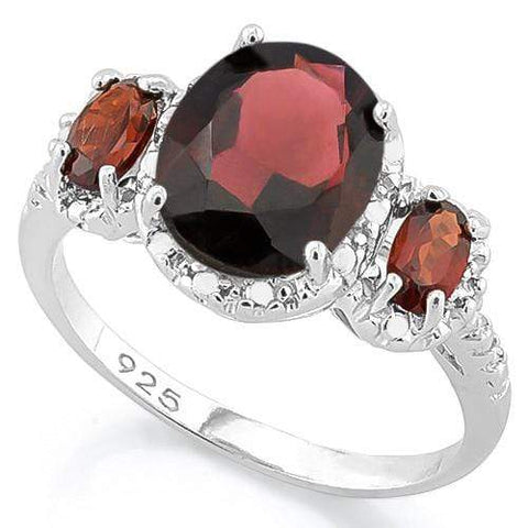 GARNET 925 STERLING SILVER RING - Wholesalekings.com